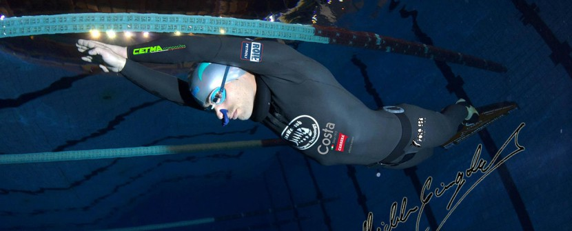 Michele Giurgola tenta oltre 200m lineari