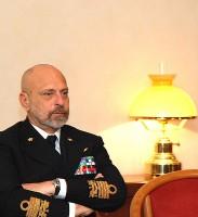 Il Capo di Stato Maggiore della Marina Militare l'ammiraglio di Squadra Giuseppe De Giorgi