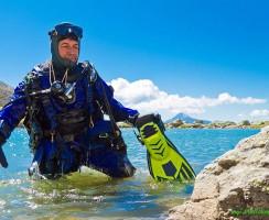 Elvio Dardanelli, specialista d'immersioni in alta quota