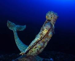 Statua della Sirenetta - Plemmirio - Commemorativa di Rossana Maiorca -  foto Elio Nicosia