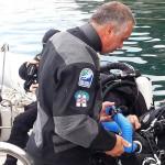 Istruzioni prima dell'immersione