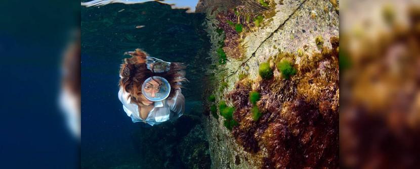 Scivolando tra gli scogli, in Mediterraneo