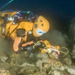 OceanOne Diving Robot sviluppato dalla Stanford University sperimentato in scavo archeologico Subacqueo (Foto T. Seguin DRASSM)
