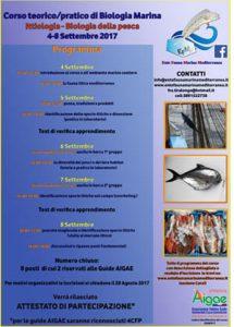 Locandina 1° Corso Ittiologia e Biologia Marina 2017