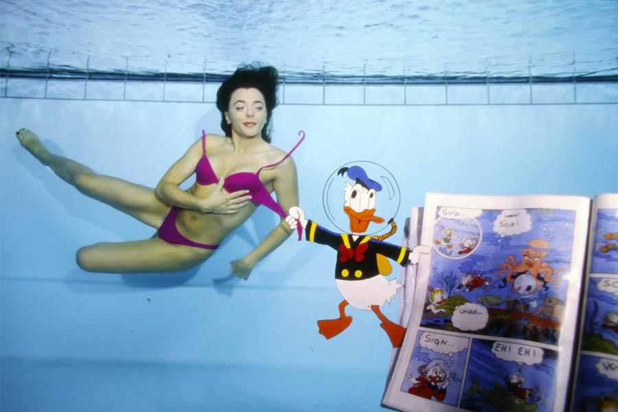 Foto Franco Negrin_modella Roberta Bedin_ Med. Oro campionato del mondo di foto creativa in piscina Copenaghen 2001