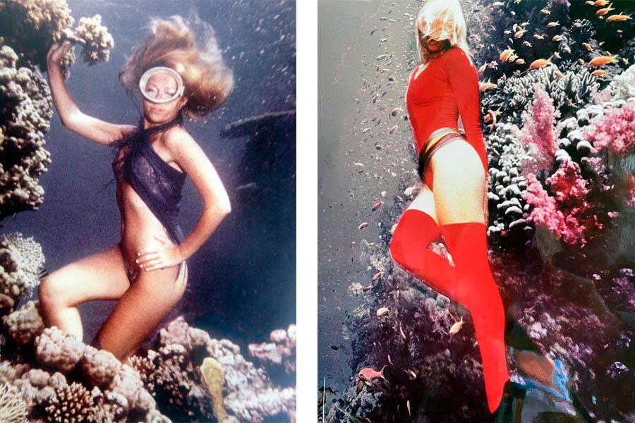 A sinistra, Foto Ezio Angiolini_modella Raffaella Schiller 1. A destra, 6 Foto Ezio Angiolini_modella Raffaella Schiller 2